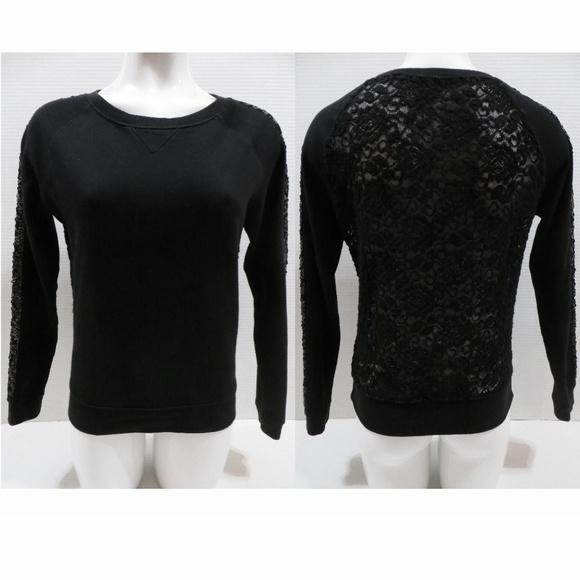 Express Tops - Express sweatshirt XS pullover lace back sequined